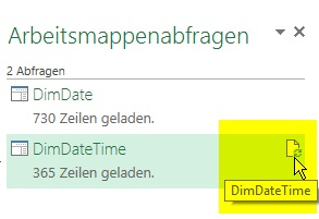 DimDate aktualisieren