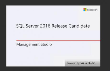 SQL Server 2016 Release Candidate Management Studio
