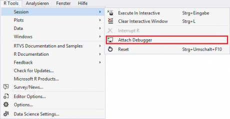 Visual Studio - Attach Debugger