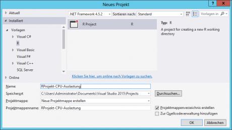 Visual Studio - R Projekt anlegen