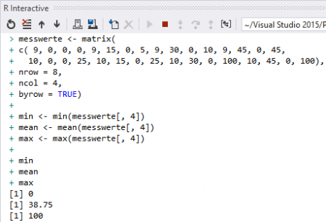 Visual Studio - Run R Code