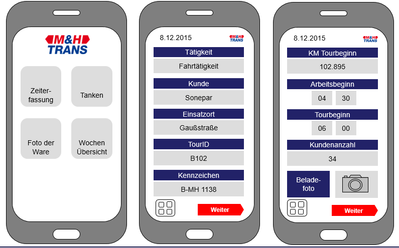 App für Spediteure