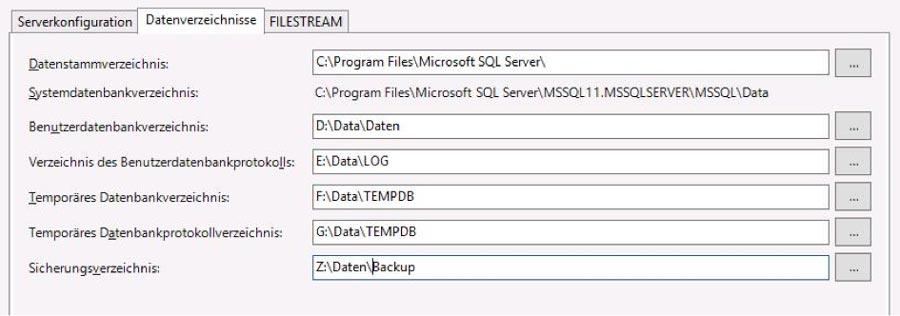 (Abb 1) Datenverzeichnisse und I/O Zugriffe