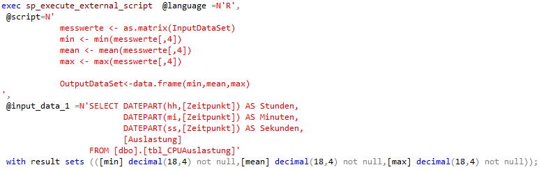 R Services - R Code