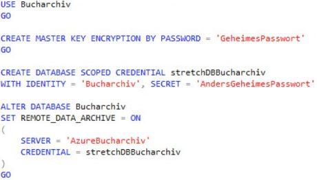 SQL Server 2016 Stretch Database - sichere Verbindung