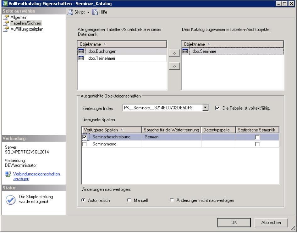 SQL Server Volltextsuche