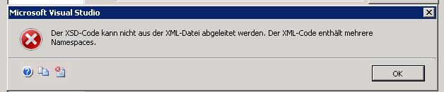 Fehlermeldung Namespaces